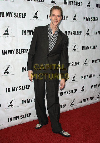 "DOUG JONES .""In My Sleep"" - Los Angeles Premiere -Arrivals held at The ArcLight Cinemas, Hollywood, California, USA, .15th April 2010..full length suit striped grey gray shoes black pinstripe shirt .CAP/ADM/TC.©T. Conrad/AdMedia/Capital Pictures."