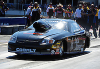 Sept. 25, 2011; Ennis, TX, USA: NHRA pro stock driver Erica Enders during the Fall Nationals at the Texas Motorplex. Mandatory Credit: Mark J. Rebilas-