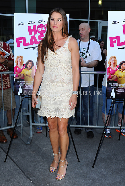 WWW.ACEPIXS.COM<br /> <br /> June 27 2013, LA<br /> <br /> Actress Brooke Shields arriving at the premiere of 'The Hot Flashes' at ArcLight Cinemas on June 27, 2013 in Hollywood, California.<br /> <br /> By Line: Peter West/ACE Pictures<br /> <br /> <br /> ACE Pictures, Inc.<br /> tel: 646 769 0430<br /> Email: info@acepixs.com<br /> www.acepixs.com