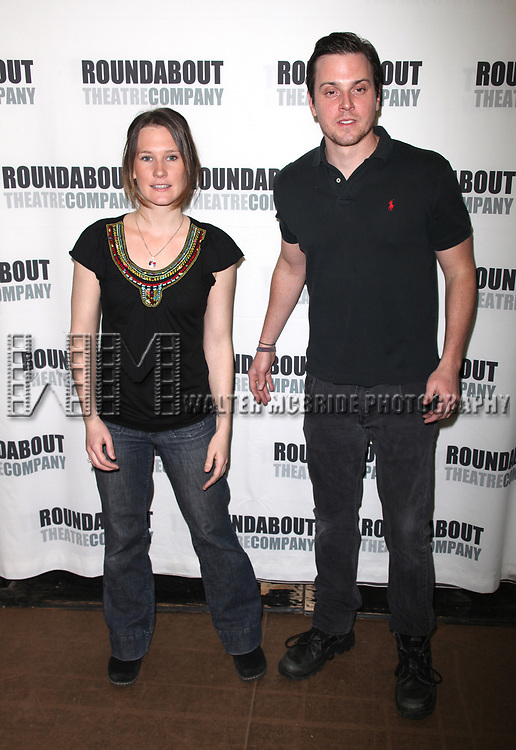 Keira Keely &amp; Michael Mosley attending the Meet &amp; Greet for the Roundabout Theatre Company's production of THE GLASS MENAGERIE in New York City.<br />February 18, 2010