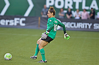 Portland, Oregon - Wednesday June 22, 2016: Portland Thorns FC goalkeeper Michelle Betos (18) during a regular season National Women's Soccer League (NWSL) match at Providence Park.