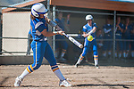 Western Nevada's Makaylee Jaussi (20) bats against Salt Lake Community College in Carson City, Nev. on Saturday, March 7, 2015. <br /> Photo by Kevin Clifford/Nevada Photo Source