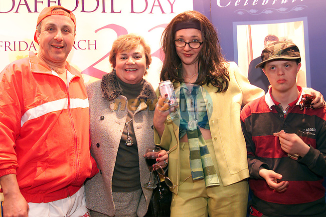 Ken Martin, Patricia Copas, Siobhan Woods from Drogheda Concentrates and Charles Copas at the Daffodil Day fashion show which was held in the Westcourt Hotel..Picture: Paul Mohan/Newsfile