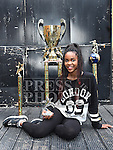 Melissa Raheem Irish Hip Hop champion pictured with her trophies. Photo:Colin Bell/pressphotos.ie