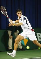 16-12-2005,Amsterdam,ABNAMRO jeugd kwalificatie toernooi, de winnaar Jesse Huta Galung in actie tegen Korteling in de finale.