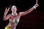 Kaho Minagawa (JPN), <br /> OCTOBER 4, 2015 - Rhythmic Gymnastics : <br /> AEON CUP 2015 Worldwide R.G. Club Championships <br /> exhibition event<br /> at Tokyo Metropolitan Gymnasium, Tokyo, Japan. <br /> (Photo by AFLO SPORT)