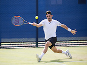June 14th 2017, Nottingham, England; ATP Aegon Nottingham Open Tennis Tournament day 5;  Thomas Fabbiano of Italy plays a forehand
