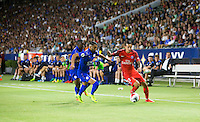 Carson, CA - July 30, 2016: Paris Saint-Germain F.C. defeated Leicester City F.C. 4-0 in a 2016 International Champions Cup (ICC) match at StubHub Center.
