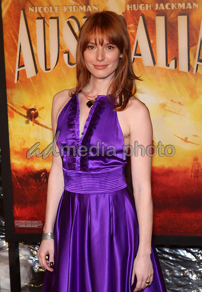24 November 2008- New York, NY- Alicia Witt arriving to the New York Premiere of Australia.<br /> Photo Credit: Paul Zimmerman/AdMedia