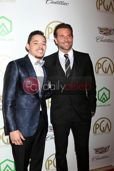 Anthony Ramos, Bradley Cooper<br /> at the 2019 Producer's Guild Awards, Beverly Hilton Hotel, Beverly Hills, CA 01-19-19<br /> David Edwards/DailyCeleb.com 818-249-4998