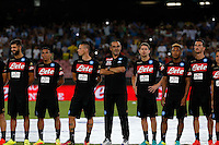 Maurizio Sarri before the friendly soccer match,between SSC Napoli and Onc Nice      at  the San  Paolo   stadium in Naples  Italy , August 02, 2016