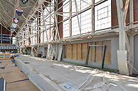 Renovations and Restoration of Coxe Cage, Yale University Athlectics Facility. Project Started May 2013. Construction Progress Photography Submission Seven, 15 August 2013. One of 30 Images this Session.