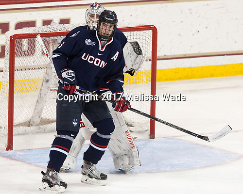 David Drake (UConn - 5), Rob Nichols (UConn - 31) - The Boston College Eagles defeated the visiting UConn Huskies 2-1 on Tuesday, January 24, 2017, at Kelley Rink in Conte Forum in Chestnut Hill, Massachusetts.
