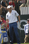 European Team player Sergio Garcia waits to tee off on the 1st tee during the opening match of the Singles on the Final Day of the Ryder Cup at Valhalla Golf Club, Louisville, Kentucky, USA, 21st September 2008 (Photo by Eoin Clarke/GOLFFILE)