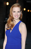 "Jessica Chastain arrives at ""The Late Show"" -  New York"
