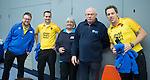 SCHIEDAM- NK reserveteams zaalhockey. Finale Tilburg D2-HDM D2 (1-3) . Scheidsrechters Pascal Engelbertink Jos van der Til, Bram Struikmans , Ineke Blok   COPYRIGHT KOEN SUYK