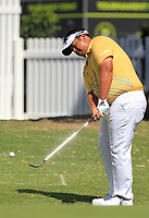 Kiradech Aphibarnrat (THA) in action on the 18th during Round 2 of the ISPS Handa World Super 6 Perth at Lake Karrinyup Country Club on the Friday 9th February 2018.<br /> Picture:  Thos Caffrey / www.golffile.ie<br /> <br /> All photo usage must carry mandatory copyright credit (&copy; Golffile   Thos Caffrey)