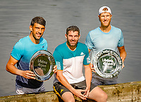 Den Bosch, Netherlands, 16 June, 2018, Tennis, Libema Open, Winners men's doubles: Dominic Inglot (GBR) his coach Rob Smith (M) and Michael Venus (NZL)<br /> Photo: Henk Koster/tennisimages.com