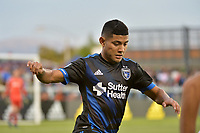 San Jose, CA - Saturday June 09, 2018: Kevin Partida during a Major League Soccer (MLS) match between the San Jose Earthquakes and Los Angeles Football Club at Avaya Stadium.