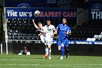 Cameron Evans of Swansea City u23's in action during the Premier League Cup: Semi Final match between Swansea City and Everton at the Liberty Stadium in Swansea, Wales, UK.  Saturday 04 May 2019
