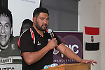 CMRFU RDO Jeremy Wara addresses the players and guests at the Counties Manukau Rugby Unions Junior Prize giving held at ECOLight stadium on Thursday October 22nd 2015. Photo by Richard Spranger