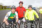 Pictured at the Fenit Coastal Cycle on Saturday were l-r: Brian Hurley (Tralee) Chris Foley (Milltown) and John Foley (Farmers Bridge).