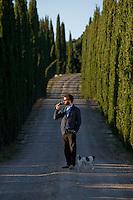 Filippo Chia, director of Castello Romitorio winery farm..Filippo Chia direttore della azienda vinicola Castello Romitorio