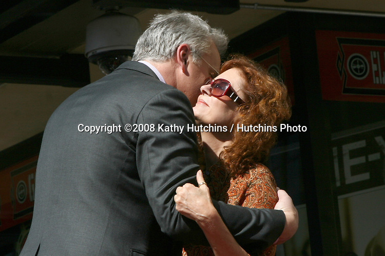 Susan Sarandon & Tim Robbins  at the Star on the Walk of Fame Ceremony for Tim Robbins on the Hollywood Walk of Fame outside the Kodak Theater  in Los Angeles,  CA on.October 10, 2008.©2008 Kathy Hutchins / Hutchins Photo...                .