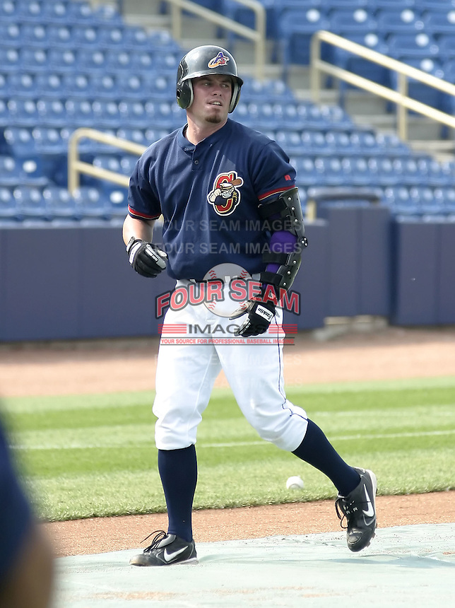 June 7, 2004:  Joe Inglett of the Lake County Captains, Low-A South Atlantic League affiliate of the Cleveland Indians, during a game at Classic Park in Eastlake, OH.  Photo by:  Mike Janes/Four Seam Images
