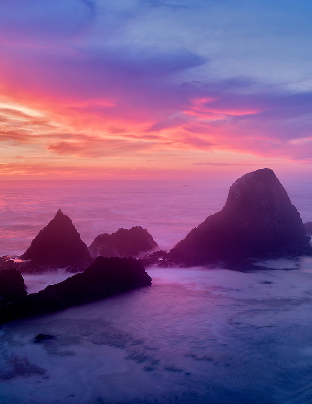 Sunset at Seal Rock, Oregon