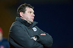 St Johnstone v Hamilton Accies...04.01.15   SPFL<br /> An unhappy Tommy Wright<br /> Picture by Graeme Hart.<br /> Copyright Perthshire Picture Agency<br /> Tel: 01738 623350  Mobile: 07990 594431