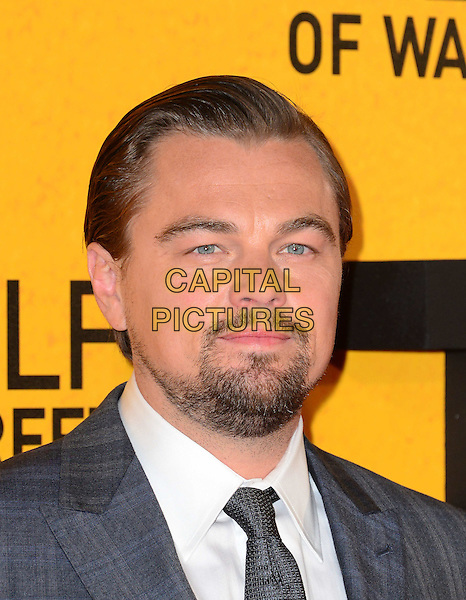 LONDON, ENGLAND - JANUARY 9:  Leonardo DiCaprio attends The Wolf Of Wall Street UK film premiere, for film based on true life crime drama about a New York stockbroker and Wall Street corruption at Odeon Leicester Square, 24-26 Leicester Square, on January 9, 2014, in  London, England. <br /> CAP/JOR<br /> &copy;Nils Jorgensen/Capital Pictures