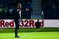 Preston North End manager Alex Neil reacts<br /> <br /> Photographer Richard Martin-Roberts/CameraSport<br /> <br /> The EFL Sky Bet Championship - Preston North End v Wigan Athletic - Saturday 6th October 2018 - Deepdale Stadium - Preston<br /> <br /> World Copyright &not;&copy; 2018 CameraSport. All rights reserved. 43 Linden Ave. Countesthorpe. Leicester. England. LE8 5PG - Tel: +44 (0) 116 277 4147 - admin@camerasport.com - www.camerasport.com