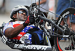 May 28, 2012: Wounded Warrior, Alfredo de los Santos competes in the 2012 U.S. Handcycling Criterium National Championships, Greenville, SC.