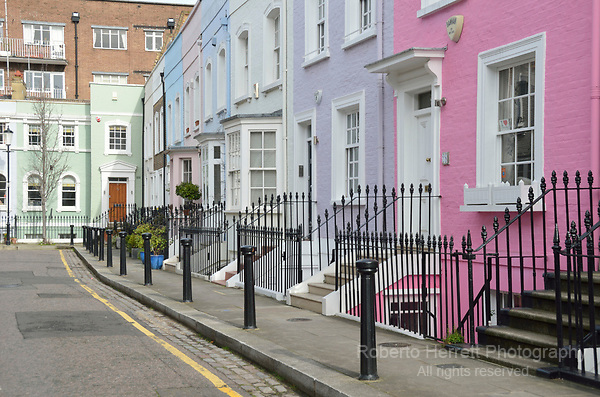 Bywater Street SW3, Chelsea, London, UK.