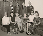 Back:  John, Byrl, Charles, Joe.  seated: Patty, Bonnie, Grandma V. (80th birthday), Vanatta, Mary, Rhea