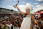 Sinead Donnelly from Navan winner of the Anthony Ryan best dressed competition at the Galway races wearing an Alice Temperly dress;photo Kieran Harnett