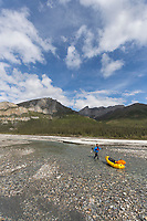 Packrafting the Matthews river, June, Arctic, Alaska