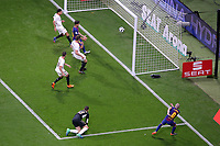 FC Barcelona's Andres Iniesta scored goal during Spanish King's Cup Final match. April 21,2018. (ALTERPHOTOS/Acero)