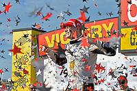 9-10 July, 2016 Newton, Iowa USA<br /> Winner Josef Newgarden (#21) celebrates in Victory Lane.<br /> &copy;2016, F. Peirce Williams