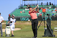 Ross Fisher (ENG) tees off the 17th tee during Thursday's Round 1 of the 118th U.S. Open Championship 2018, held at Shinnecock Hills Club, Southampton, New Jersey, USA. 14th June 2018.<br /> Picture: Eoin Clarke | Golffile<br /> <br /> <br /> All photos usage must carry mandatory copyright credit (&copy; Golffile | Eoin Clarke)