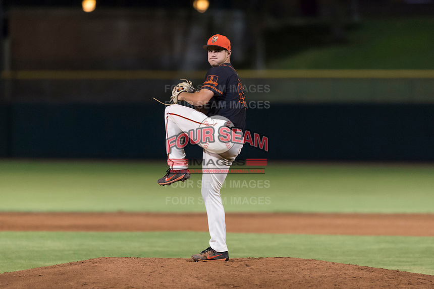 AZL Giants Black relief pitcher Cooper Casad (62) delivers a pitch during an Arizona League game against the AZL Rangers at Scottsdale Stadium on August 4, 2018 in Scottsdale, Arizona. The AZL Giants Black defeated the AZL Rangers by a score of 6-3 in the second game of a doubleheader. (Zachary Lucy/Four Seam Images)