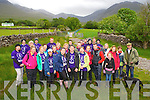 Denise Lucey and Aaron Brosnan, pictured at Cronins Yard, Beaufort with some of their families and friends as they climbed Carrauntuohill on Sunday as part of their fundraising climb of the four highest peaks in Ireland in aid of Feileachain