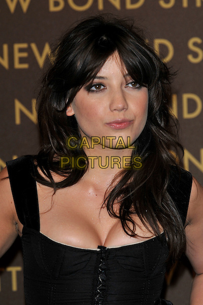 DAISY LOWE .attends the launch of the Louis Vuitton Bond Street Maison Store in London, England, UK, May 25th, 2010. .portrait headshot  black cleavage make-up  .CAP/PL.©Phil Loftus/Capital Pictures.