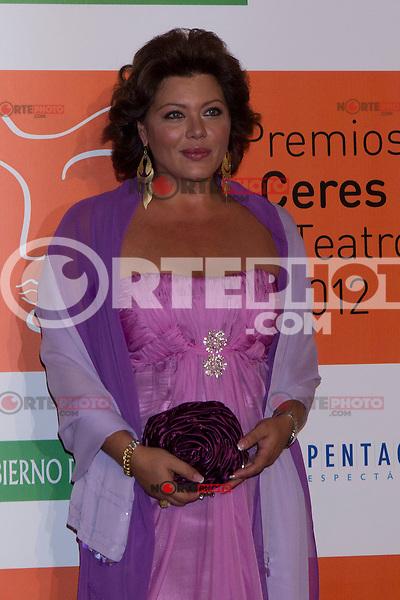 30.08.2012. Photocall guests and winners in the 'Ceres Theatre Awards 2012' in Merida (Extremadura). In the image Paola Santoni  (Alterphotos/Marta Gonzalez) /Nortephoto.com<br /> <br />  **CREDITO*OBLIGATORIO** *No*Venta*A*Terceros*<br /> *No*Sale*So*third* ***No*Se*Permite*Hacer Archivo***No*Sale*So*third*