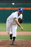May 9, 2009:  Relief Pitcher Connor Robertson of the Buffalo Bisons, International League Class-AAA affiliate of the New York Mets, delivers a pitch during a game at the Coca-Cola Field in Buffalo, FL.  Photo by:  Mike Janes/Four Seam Images