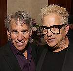 Stephen Schwartz and Ken Fallin attends the DGF Salon with Stephen Schwartz at the Uterberg Residence on May 1, 2017 in New York City.