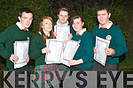 PAPER: happy with their junior cert result on Wednesday, were pupils from Killorglin Community College,Killorglin, L-r: Daniel Ahern (Carragh Lake), Denise Golden (Killorglin), Aoife Sayers (Inc ..h), Susan Galvin (Killorglin) and Jason Sheehan (Carragh Lake). .......