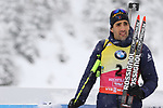 09/12/2017, Hochfilzen - IBU World Cup Biathlon 2018.<br /> Biathlon Pursuit Men 12.5 km race in Hochfilzen, Austria on December 9, 2017; Martin Fourcade