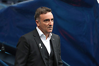 Swansea City manager Carlos Carvalhal during the Premier League match between Manchester City and Swansea City at the Etihad Stadium, Manchester, England, UK. Sunday 22 April 2018